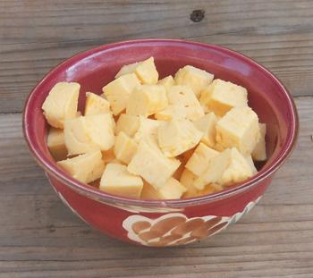 This homemade Velveeta Cheese substitute had a sharp cheddar taste. Yummy!